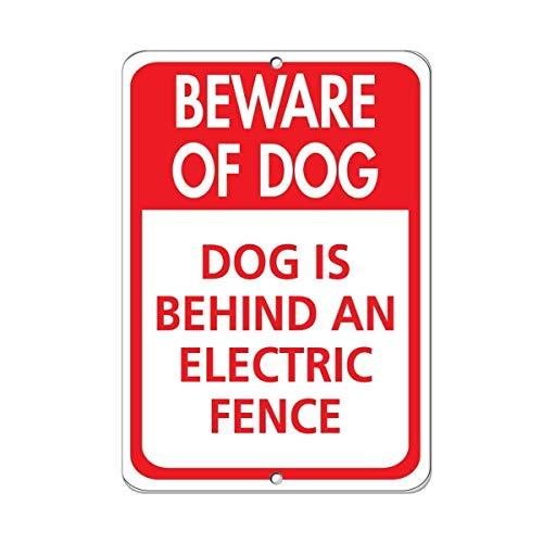 Imágenes colgantes de placa de hierro, cuidado con el perro El perro...
