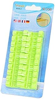 Cable Clips Organizer - 20 pcs - Self-Adhesive Drop Wire Holder Cord Management - Green