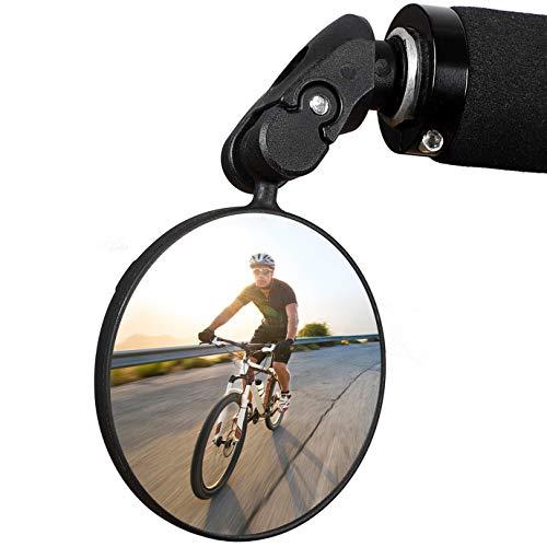 Hbsite Espejos para Bicicleta 360° Giratorio Ajustable HD Convexo Vista Trasera Segura Espejos para Ciclismo Espejos retrovisores angulares Universales para Bicicletas de Carretera de montaña