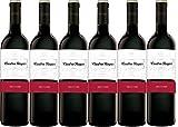 Cuatro Rayas Vino Tinto Tempranillo Roble D.O. Ribera de Duero - 6 Botellas de 750 ml (Total 4,5 L)
