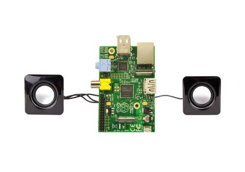 Duragadget - Mini altavoces con toma USB para ordenador Raspberry Pi 3 / Pi 3 modelo B+ (B Plus), PI 2 Tipo A+ y B, Pi Zero y Pi Modelo A o B+ - Diseño compacto
