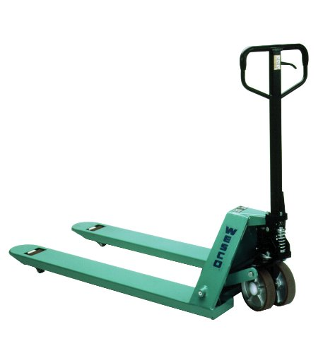 Wesco Industrial Products 272778 CPII Pallet Truck with Handle, Moldon Polyurethane Wheels, 5500 lb. Load Capacity, 63