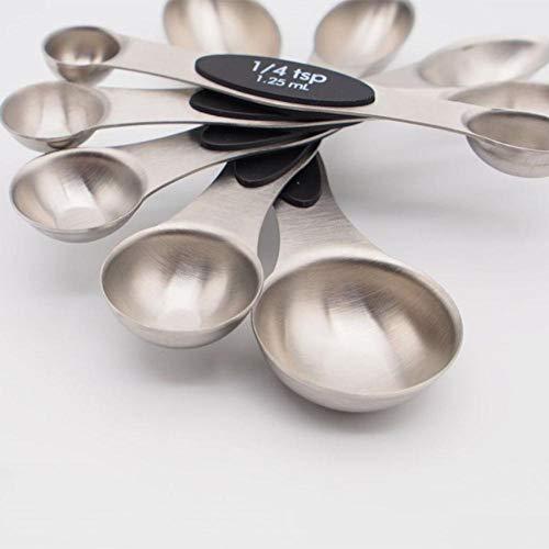 Fijnere magnetische maatlepels Set van 5 met dubbele uiteinden Roestvrijstalen maatlepels Theelepel Eetlepel Maatlepel