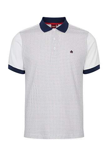 MERC London Herren Weiß Stepney Poloshirt M
