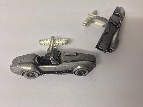 Shelby Cobra boutons de manchette Boutons de manchette voiture classique 3D Effet Étain ref239