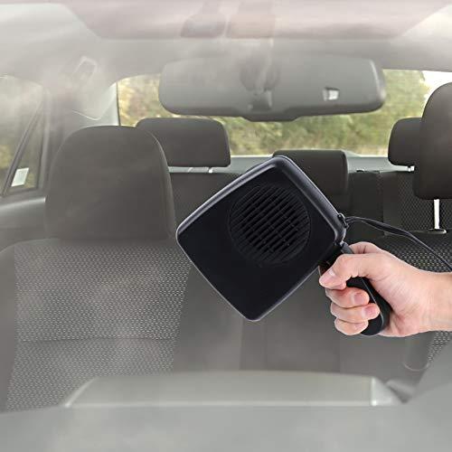 41xlCaNf35L - Haiabei Portable Car Heater Fan,Plug-in Anti-Fog 150W 12V Car Fan Windshield Defroster Automobile Heater Warmer Vehicle Demister Fast 2 in 1 Heating Cooling Dryer Auto 360-degree Rotation Heater Fan