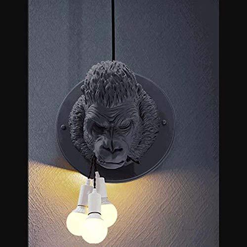 ZXF Nordic Wandleuchte Wohnzimmer Schlafzimmer Den Restaurant Kaffeekanne Shop Kleidung Barber Zoo Gorilla Biss Linie Wandleuchte W40XH60 Warm
