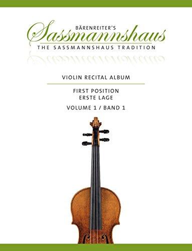 Violin Recital Album, Band 1: 20 Vortragsstücke in der ersten Lage für Geige und Klavier oder für zwei Geigen. Partitur