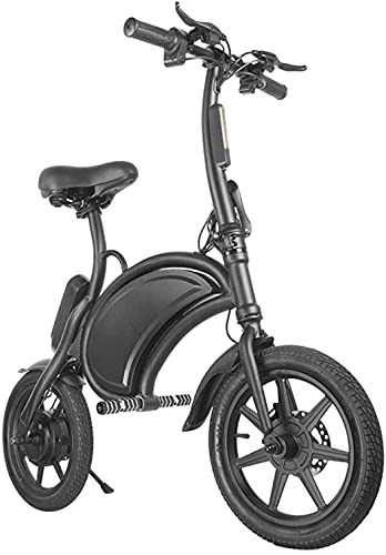 caijj Mankeel / 14 Pulgadas Escenaria Doble Disco Freno de Aluminio Plegable Bicicleta eléctrica Batería de Litio Mini Total Electric Vehee Outdoors