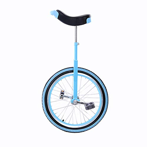 XYSQ 3-6 Jahre alt 20-Zoll-Kinder Einrad, Erwachsene Sport Einrad, Einrad Einrad Balancer Straße Sport, Reifen Fahrrad Outdoor Sports Fitness Exercise Physical Fitness (Color : Blue, Size : 20inch)