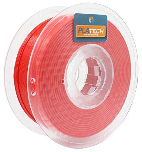 FFFworld 250 g PLA Tech 1.75 mm - Filamento PLA 1.75 con avvolgimento di precisione Optiroll - PLA Filament rosso