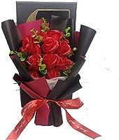 ソープフラワー 母の日 誕生日 退職 結婚 お祝い 花 束 ギフト ブーケ プレゼント 誕生日 薔薇 開店 記念 還暦祝い フラワーソープ ホワイト