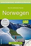 Bruckmanns Wanderführer Norwegen: Wanderführer Norwegen: Die 40 schönsten Wandertouren zwischen Fjorden, Seen und Gletschern, inkl. Wanderkarten.