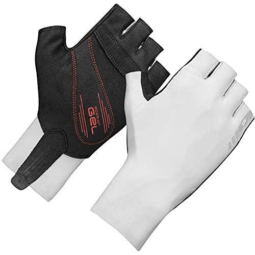 GripGrab Unisex– Erwachsene Aero TT Aerodynamische Profi Radsport Race Handschuhe Kurzfinger Sommer Rennrad Zeitfahren Fahrradhandschuhe, Weiß, M