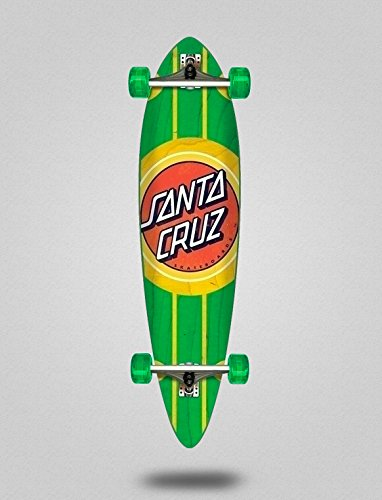 SANTA CRUZ Skate Longboard Cruiser Complete Classic Dot Pintail Cruzer 9,58 X 39