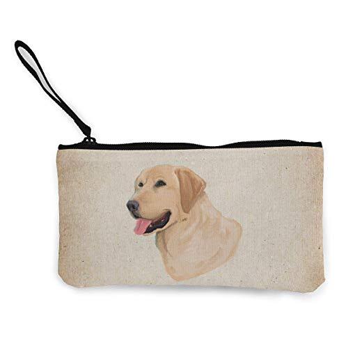 Unisex-Geldbörse, Labrador Retriever Cute Canvas Change Geldbörse, Schminktasche, Handytasche with Handle Wallet Bag Change Pouch