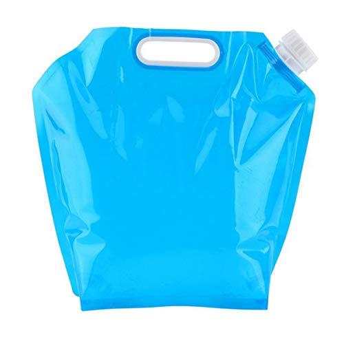 Greatangle-UK Artículos Deportivos al Aire Libre Bolsa de Agua portátil Plegable 5L 10L Bolsa de Almacenamiento de Agua para Deportes al Aire Libre Cubo de Picnic