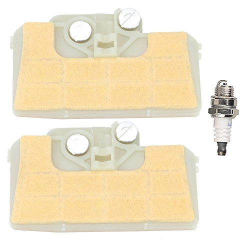 Mckin (Pack of 2) Air Filter with Spark Plug for STHIL 029 039 MS290 MS310 MS390 Chainsaw