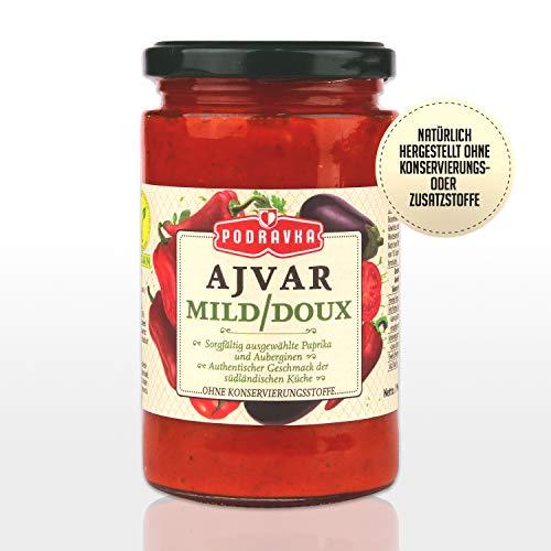 Podravka Podrvka Ajvar Mild, Milde Gemüse-Würzpaste für den milden Geschmack, (1 x 350 g)