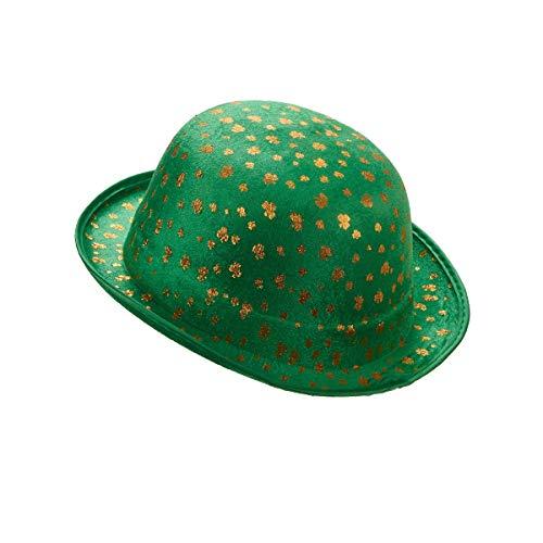 DEGUISE TOI - Chapeau Melon Vert en Velours St-Patrick Adulte - Taille Unique