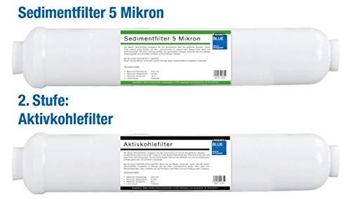 WAGNER Blue Filterset für Expert Aquarium Osmoseanlage, Profi Osmose Wasserfilter zur Herstellung von Osmosewasser