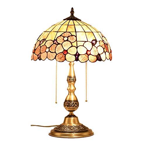 MIAO. NAF,Dormitorio de la lámpara de Mesa - lámpara de Mesa de Concha lámpara de Noche lámpara de Boda Lámpara de Mesa de Cobre Retro de Lujo, Interruptor de tirón,#1