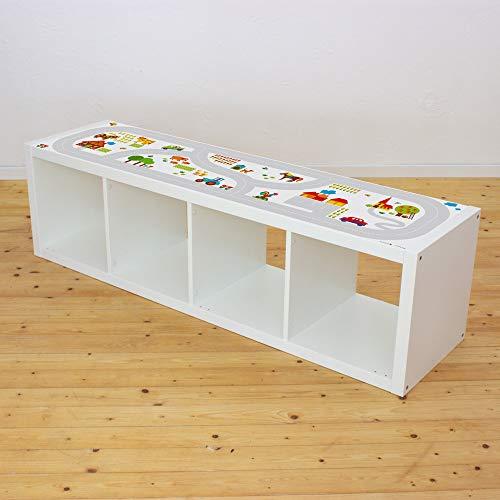 Limmaland Möbelaufkleber Straßen - passend für IKEA KALLAX Regal 4Fach - Design byGraziela - Möbel Nicht inklusive