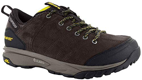 Hi-Tec Tortola Trail WP- Zapatos de Senderismo - Dark Chocolate/Dark Taupe/Golden Palm (42 EU)