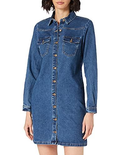 PIECES Female Jeanskleid Mini MMedium Blue Denim