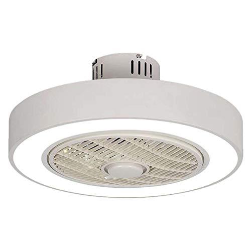 Moderne plafondventilator met verlichting, afstandsbediening, dimbare led-plafondlamp stil onzichtbaar plafondventilator licht woonkamer plafondlamp kinderkamer grijs