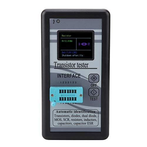 Probador de transistores, M328 Probador de transistores digitales con pantalla LCD multifuncional 0.5Ω - 50MΩ