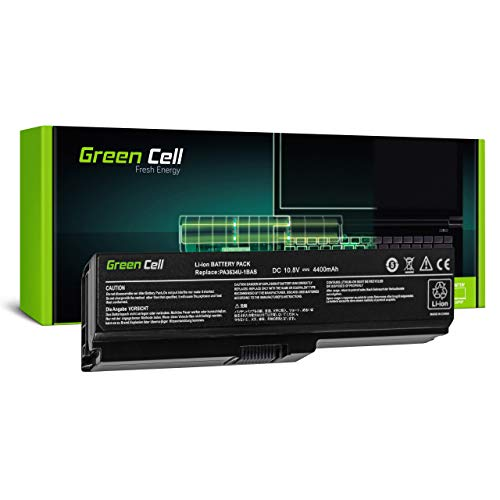 Green Cell Batería para Toshiba Satellite L755-10Q L755-10U L755-111 L755-113 L755-115 L755-118 L755-11H L755-11J L755-11K L755-11L L755-11M L755-11P Portátil (4400mAh 10.8V Negro)