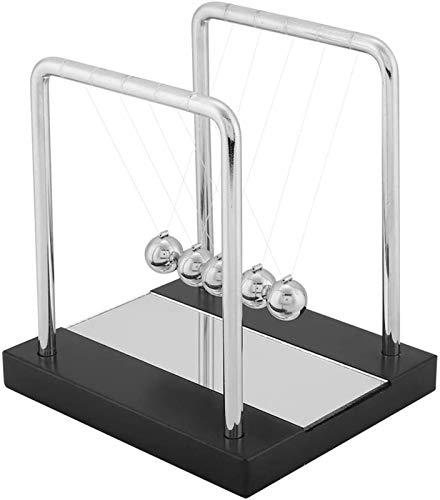 Equilibrio Bolas de juguete con espejo Newton's Cradle Bals Balls Base de madera Arte de la base en movimiento Juguetes para niños Adultos Physics Ciencia Péndulo Adornos Educativa Juguete Regalo Inic