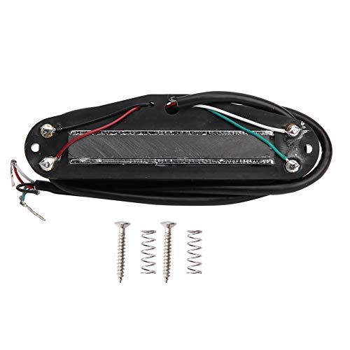 Pastilla para guitarra, pastilla de doble carril para guitarra eléctrica Accesorios para instrumentos musicales pequeños(Riel plateado blanco)