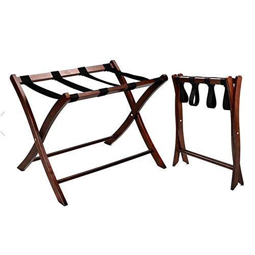 Buy Bargain MAODATOU Luggage Racks Luggage Rack Solid Wood Folding with Shelf (Pack of 1),Luggage St...