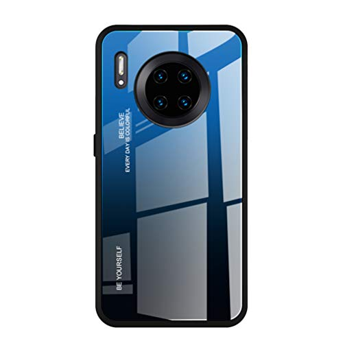 HAOYE Hülle für Xiaomi Pocophone F2 Pro Hülle, Farbverlauf-Glas Back Cover Handyhülle, Ultra Thin Tasche Cover TPU Silikon Grenze Shock Absorption Stoßfest Hülle Schutzhülle(7)