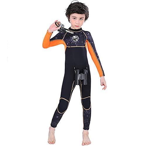POOPFIY Surfing Neopren Swimwear Wetsuit 2.5mm Traje de Buceo Trajes de baño Largos Trajes de cálido,Negro,S