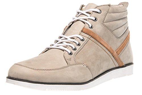 Manz - Zapatillas de Piel para Hombre, Color Beige, Talla 52 EU