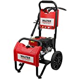 WALTER Benzin Hochdruckreiniger, Terrassenreinger, 250 bar, 7 PS Viertaktmotor, 208 ccm, inkl. 6m Hochdruckschlauch, 4m Ansaugschlauch, 5 Düsen