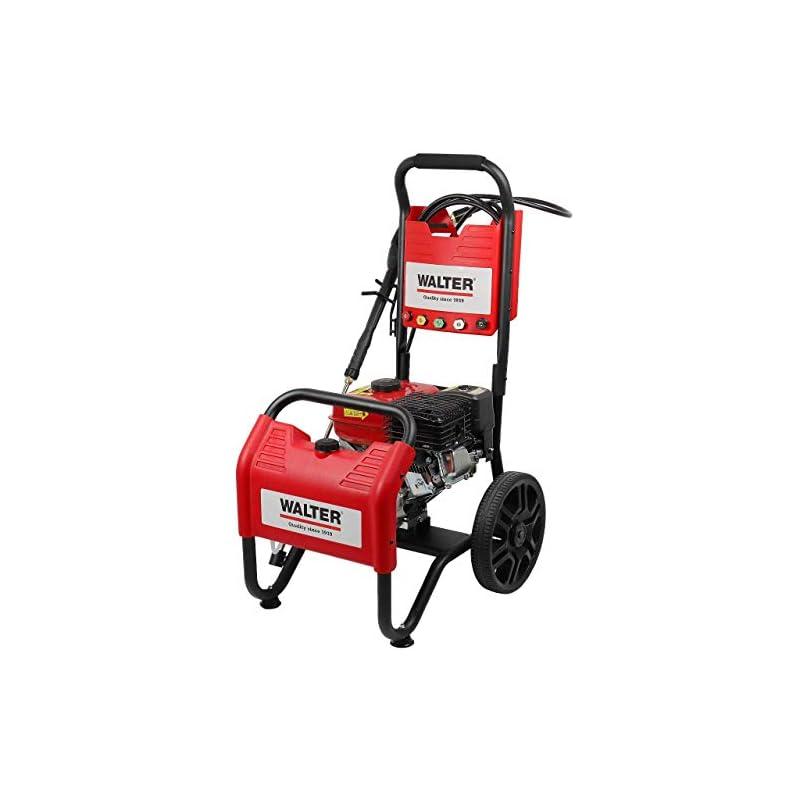 WALTER Benzin Hochdruckreiniger, Terrassenreinger, 250 bar, 7 PS Viertaktmotor, 208 ccm, inkl. 6m Hochdruckschlauch, 4m…