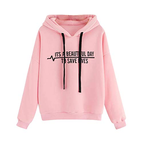 YIKEYO Sudaderas Juveniles Niña Sudadera Adolecentes Chicas Tumblr con Capucha Invierno Ropa Mujer Hoodi Casual Moda Tops Camiseta de Manga Larga,Estampadas de Frase