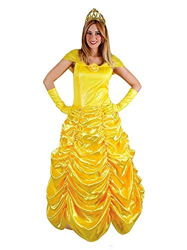 DISBACANAL Disfraz Princesa Amarilla Mujer - L