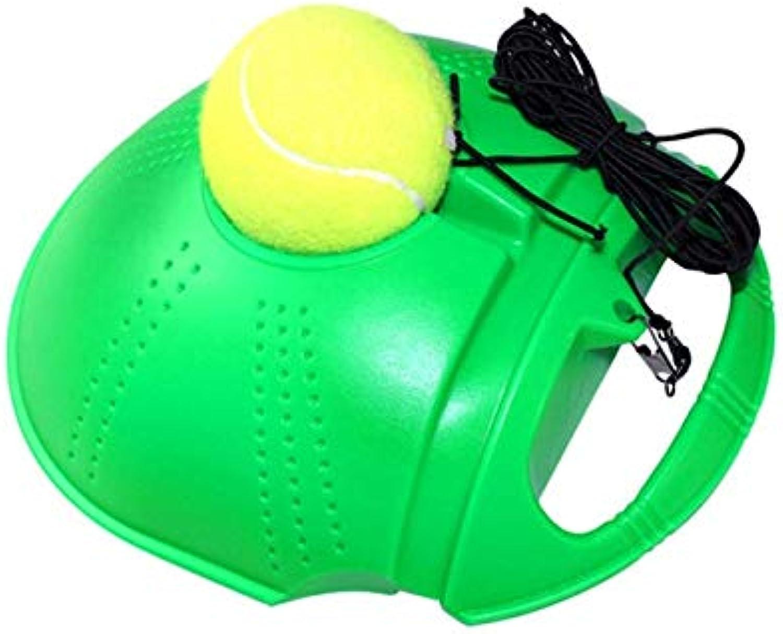 CUSHY Peronal Tenni Training Tool Exercie Tenni Ball Port elftudy Rebound Ball with Tenni Trainer Baeboard parring Device  New Green