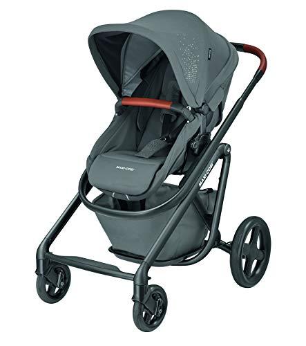 Maxi-Cosi Lila Luxe Komfort-Kinderwagen, geeignet ab Geburt, Reisesystem mit Stubenwagen, 0 Monate - 3,5 Jahre, 0-15 kg, Sparkling Grey
