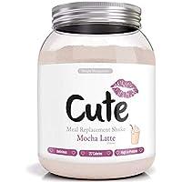 Cute Nutrition Batido Sustitutivo de Comida Sabor Moca Latte para el Control de la Pérdida de Peso en Polvo Bebida Dietética Para Mujer Bote de 500g
