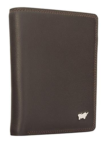 BRAUN BÜFFEL Geldbörse Golf 2.0 - aus echtem Leder - 7 Fächer H Braun
