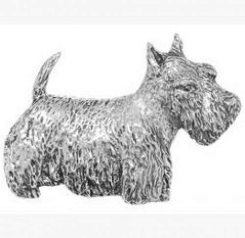 Gift Box Pewter Scottie Dog Badge pin or Brooch Gift for Scarf, Tie, Hat, Coat or Bag