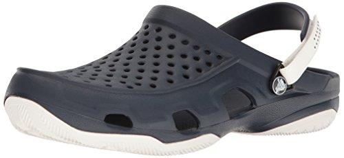Crocs Swiftwater Deck Clog Men, Herren Clogs, Blau (Navy/White), 46/47 EU