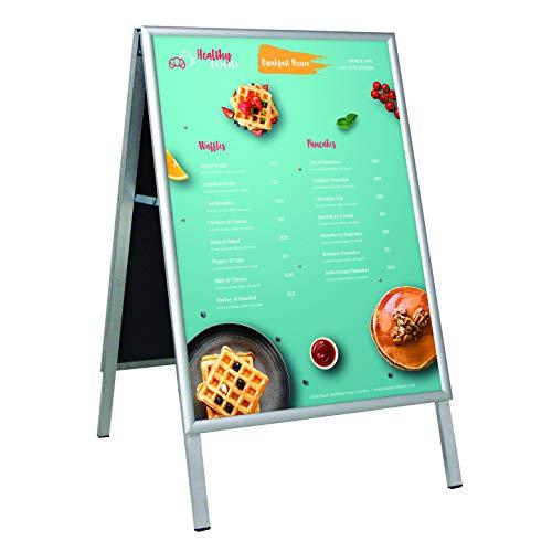 DISPLAY SALES stoepbord DIN A2 | Klantenstopper met 25 mm profiel | verstekhoeken, stalen achterwand
