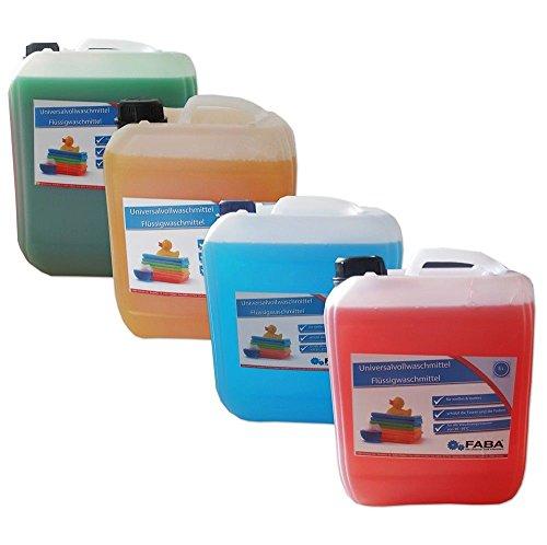 Flüssigwaschmittel Vollwaschmittel 4x5 L bunt rot orange grün blau